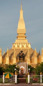 Pha That Luang w Vientanie